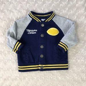 Carter's Baby Boy Jacket 6M Football Handsome Blue